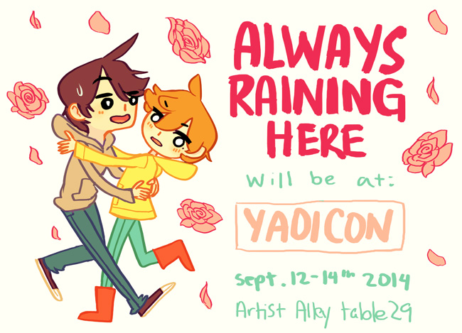 Always Raining Here will be at yaoicon 2014