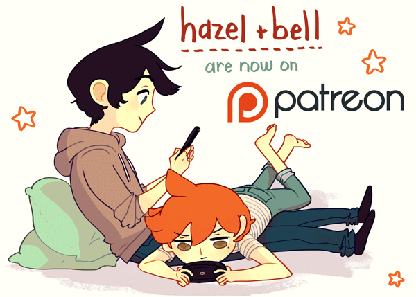 Hazel and Bell are now on Patreon!
